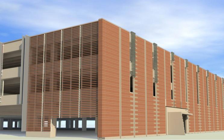 Facciate ventilate in cotto logan airport conrac garage for Progettista di garage virtuale