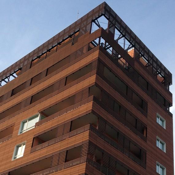 Facciate ventilate in cotto pareti ventilate in cotto - British institute milano porta venezia ...