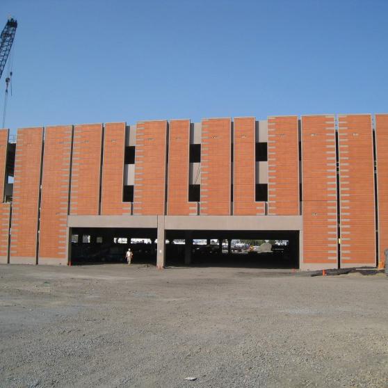 Ventilated Terracotta Cladding, Logan Airport CONRAC Garage