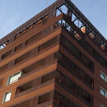 Architetture pareti ventilate in cotto facciate ventilate - Hotel milano porta vittoria ...